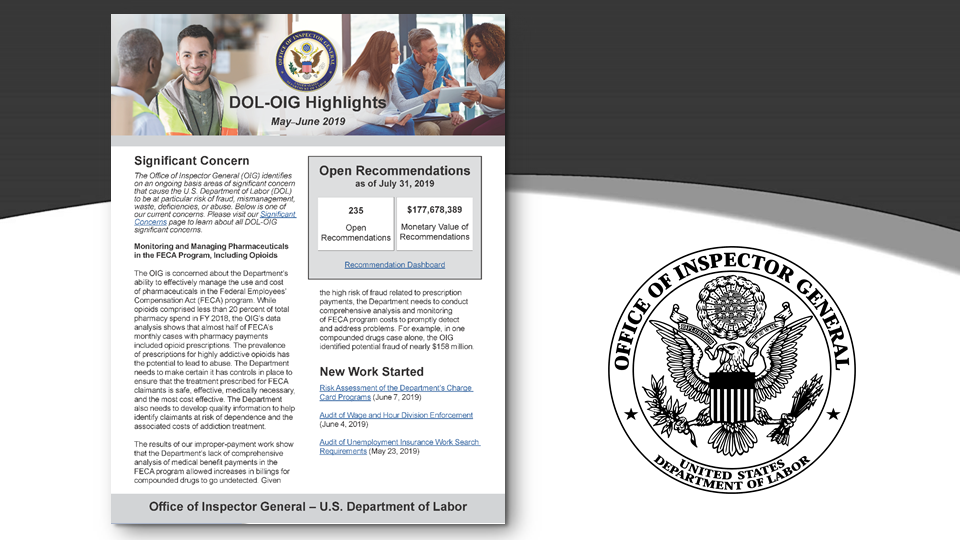 Office of Inspector General - U S  Department of Labor