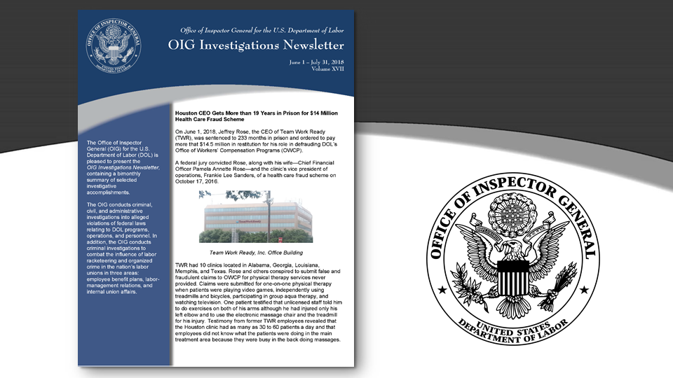 Cover of Oig Investigation Newsletter Volume 17