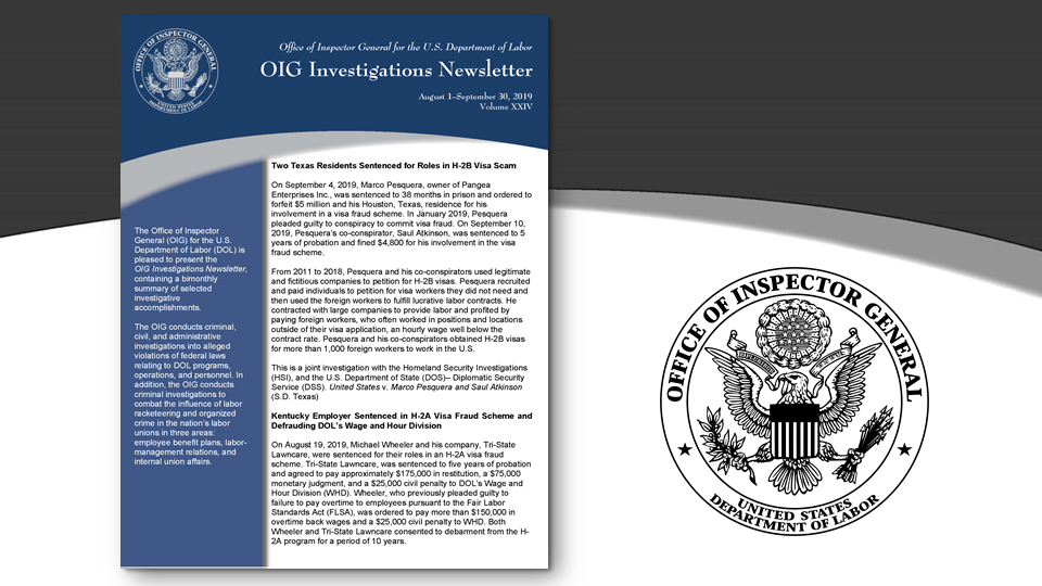 Cover of Oig Investigation Newsletter Volume 24